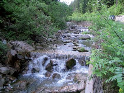 Jelení potok - kamenné stupně
