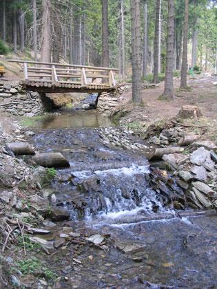Renerův potok - balvanitý skluz