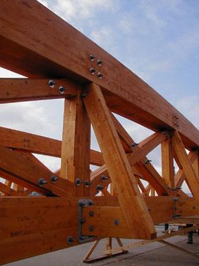 Dřevěný příhradový nosník