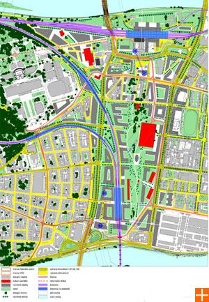 Návrh řešení využití území - varianta A