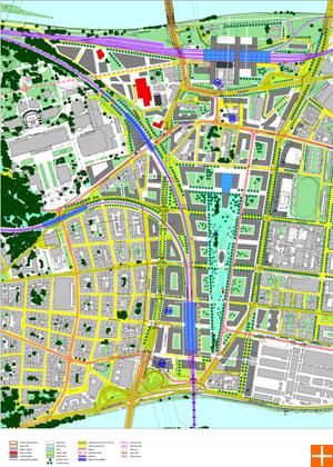 Návrh řešení využití území - varianta B