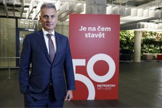 Obr. 1 Ing. Jaroslav Heran, generální ředitel společnosti Metrostav a.s.