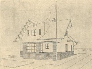Rodinný dům pro Bohumilu Masarykovou-Slavíčkovou v tehdejší Německé Rybné (dnešní Rybné nad Zdobnicí) u Žamberka, 1925