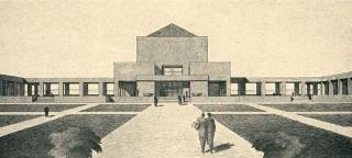 Soutěžní návrh krematoria v Praze na Vinohradech