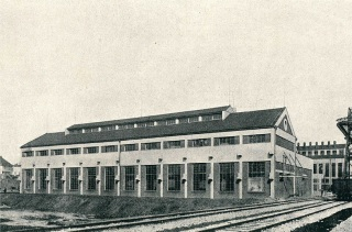 Pražská obecní plynárna v Michli, budova čistírny, 1936
