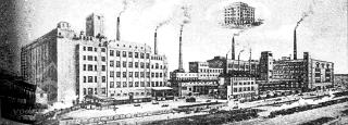 Mlýny a pekárny Odkolek, autorem návrhu z roku 1912 je Hubert Gessner; prospekt, 1920, archivní foto