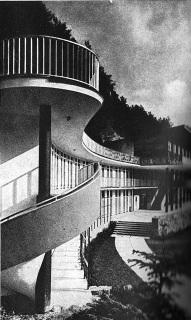 Koupaliště Zelená Žába v Trenčanských Teplicích, třicátá léta 20. století