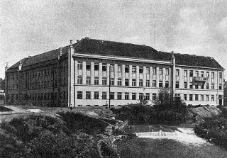 Budova zemského úřadu v Mukačevu okolo roku 1930