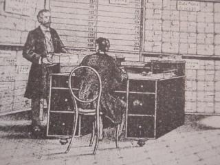 Zařízení knihařského  a nakladatelského závodu J. Otty v Praze - sklady