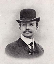 Obr. 02 Josef Maria Olbrich, 1908  (zdroj: autor neznámý, Architektur- welt)
