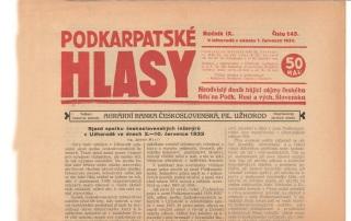 Dobová reakce na sjezd SIA v Užhorodu v červenci 1933 v Podkarpatských hlasech