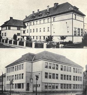 Školní budovy na Podkarpatské Rusi postavené ve dvacátých letech 20. století