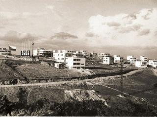Stavba výstavní kolonie (osady) Baba, celkový pohled