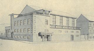 Sokolovna na Zbraslavi, návrh, 1925
