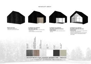 Materiálový koncept rodinného domu v Neveklově