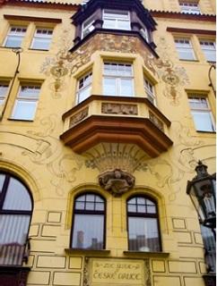 Dům U České orlice z let 1896–1897, detail zdobené fasády, Praha (foto: Petr Zázvorka, 2020)