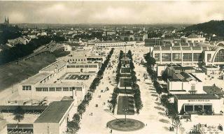 Výstava soudobé kultury v Československu, celkový pohled na výstaviště, Brno, 1928