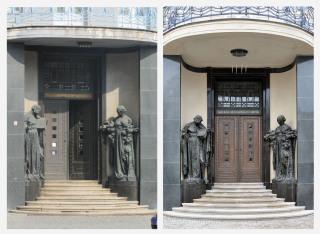 Rekonstrukcí prošel hlavní vstup včetně restaurování soch