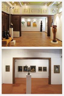 Nově vzniklá výstavní síň ve 2.NP – galerie Vladimíra Preclíka
