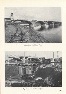 Libeňský most Praze z roku 1928