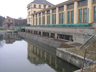 Elektrárna Nymburk, betonová konstrukce strojovny