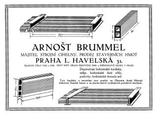 Jedny z prvních desek typu Hurdis v dobovém inzerátu kolem roku 1930