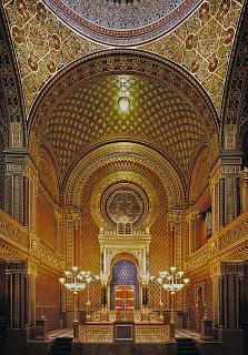 Interiér Španělské synagogy v Praze
