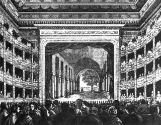 Ignác V. Ullmann – Prozatímní divadlo, dokončené roku 1862, interiér