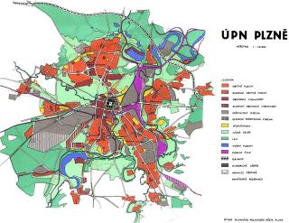 Obr. 2 Územní plán sídelního útvaru (ÚPnSÚ), schválený v roce 1988