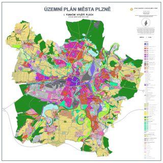 Obr. 4 Územní plán města Plzně (ÚPMP), schválený v roce 1995