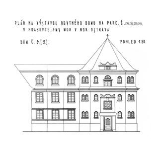 Obr. 05 Arnošt Korner, uliční průčelí bytového domu č. p. 304, 1927 (zdroj: [1])