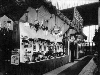 Expozice firmy Křižík na Zemské jubilejní výstavě v Praze v roce 1891