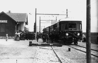Slavnostní zahájení provozu první elektrizované železnice v Rakousko- Uhersku na trati Tábor – Bechyně 21. června 1903