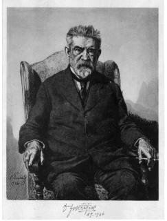 František Křižík, litografie od Maxe Švabinského z roku 1922 s autentickým podpisem Františka Křižíka z 8. září 1936