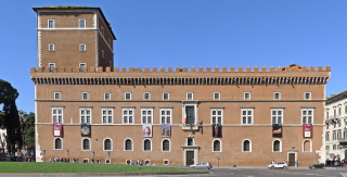 Palazzo di Venezia v Římě, na jehož restaurování se podílel Antonín Viktor Barvitius
