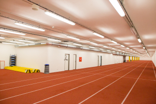 Interiér atletického tréninkového tunelu