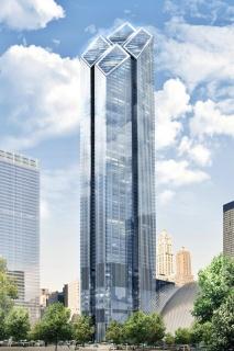 Obr. 02. Vizualizace celkového pohledu na věž 2WTC. Návrh kanceláře Foster +  Partners (nebyl realizován), zdroj: Foster + Partners.