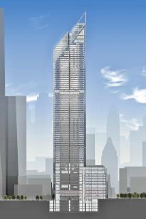 Obr. 05. Schéma svislého členění věže 2WTC (původní návrh, září 2006)