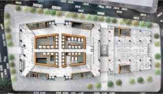 Obr. 03. Dispozice přízemí věže 2WTC, zdroj: Silverstein Properties