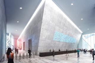 Obr. 10. Vizualizace vstupního lobby Ingelsova návrhu věže 2WTC