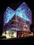Videomapping na budově CIIRC – součást oslav po slavnostním otevření
