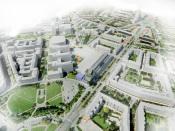 Stavba Českého institutu informatiky, kybernetiky a robotiky v Praze-Dejvicích, v ulici Jugoslávských partyzánů, respektuje urbanistickou i architektonickou koncepci okolních budov stávajícího vysokoškolského areálu ČVUT, vizualizace