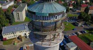 Obr. 05 Ve výšce cca 25 m se nacházela betonová podlaha, na které byla umístěna vlastní nádrž vodojemu