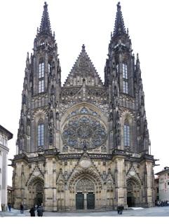 Průčelí katedrály sv. Víta (zdroj: Ludek – vlastní dílo, Wikimedia Commons, CC BY-SA 3.0)