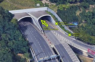 Jižní portál Strahovského tunelu – měření za provozu