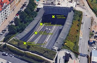 Severní portál Strahovského tunelu – měření za provozu