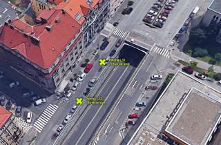 Severní portál Letenského tunelu – měření za provozu