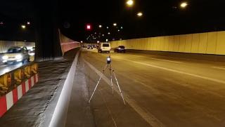 Měření za běžného provozu – poloha mikrofonu S.J1 u jižního portálu Strahovského tunelu