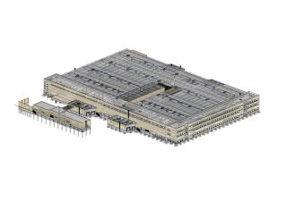 3D model výrobního areálu