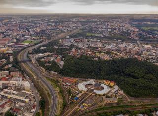 Obr. 02 Pohled od Vršovic přes Eden k Zahradnímu Městu
